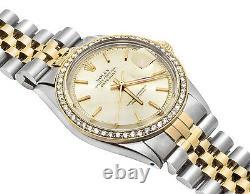 Mens Rolex Datejust 2 Tone 18k Gold 36MM Steel Jubilee Band Diamond Watch 2 CT