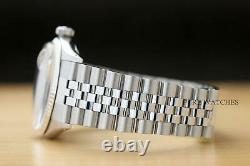 Mens Rolex Datejust Blue Diamond Dial 18k White Gold & Stainless Steel Watch