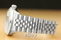 Mens Rolex Datejust Silver Diamond Sapphire 18k White Gold Stainless Steel Watch