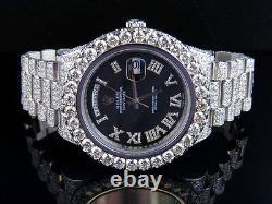 Mens Rolex Day-Date 2 II 18k 41MM President 218239 White Gold Diamond Watch 30.5