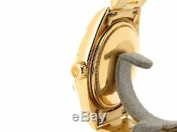 Mens Rolex Day-Date President Solid 18K Yellow Gold Watch White Black Roman 1803