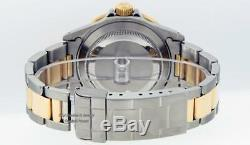 Mens Rolex Red Submariner Date 16613 Watch Ss/18k Yellow Gold White Diamond Dial