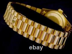 Mens Rolex Solid 18K Yellow Gold Datejust withWhite Dial & President Style Band