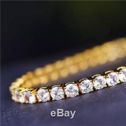 Mens Round Cut 8-9 Inch Tennis Bracelet (4mm)