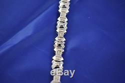 Mens Urban White 14k SOLID Gold Bracelet with Diamond (apx 5ct total)