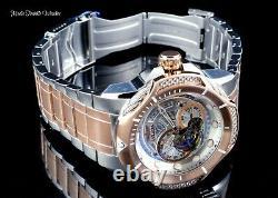NEW Invicta Men's 52mm Bolt Automatic Open Heart Silver ROSE Tone Bracelet Watch