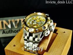 NEW Invicta Men's 52mm Reserve VENOM HYBRID Swiss Chronograph GOLD DIAL SS Watch