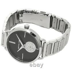 NEW MICHAEL KORS MK3638 Portia Silver Tone Crystal Pave Ladies Wrist Watch