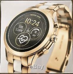 NEW MICHAEL KORS Runway Access Gold & White Touchscreen Smartwatch MKT5057