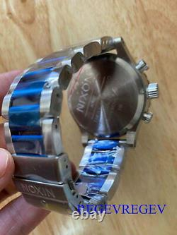NEW Nixon Simpley 51-30 Mens Analog Quartz Watch Blue Silver Stainless Genuine &