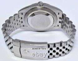 NEW Rolex Datejust 41 Steel & 18k WG Blue Diamond Dial Fluted Watch & Box 126334