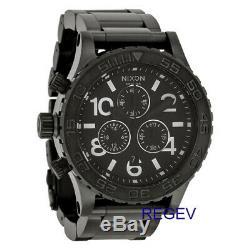 New Genuine Nixon Watch A037001 42-20 Chrono All Black A037-001 42mm