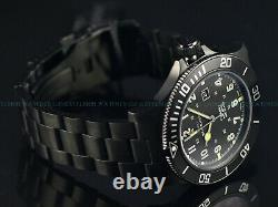 New Glycine 48mm Combat Sub Swiss Automatic Sapphire Crystal Blk Watch, Gl0096
