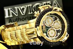 New Invicta Men 56MM Subaqua POSEIDON Black MOTHER OF PEARL Dial Chrono SS Watch