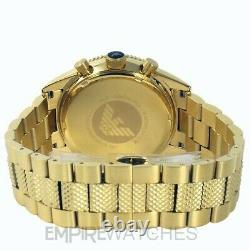 New Mens Emporio Armani Gold Pvd Chronograph Watch Ar5857 Rrp £399.00