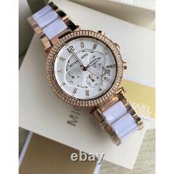 New Michael Kors Mk5774 Rose Gold Parker Ladies Womens Watch 2 Yrs Warranty