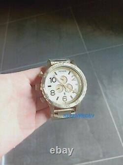 Nixon New Watch A0831219 51-30 CHRONO Silver Champagne Gold A083-1219 men