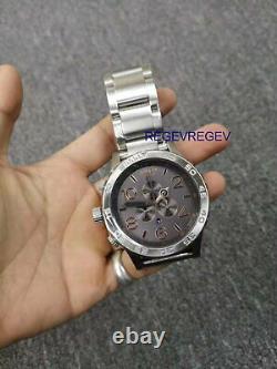 Nixon Watch A0832064 51-30 CHRONOGRAPH Gray / Rose Gold A083-2064 Genuine