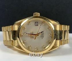 Omega Seamaster Aqua Terra 36mm Men's Watch 18k Yellow Gold White Dial Automatic