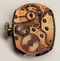Omega Vintage 14k White Gold And Diamond Ladies Wrist Watch Lb3176