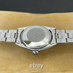 Original Rolex Oyster Perpetual Date 1500 Silver Stick Dial Stainless Steel