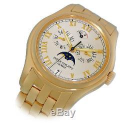 PATEK PHILIPPE 18K Yellow Gold Annual Calendar Moonphase 5036 J Box Warranty