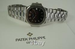 PATEK PHILIPPE 3800/1 NAUTILUS STAINLESS STEEL AUTOMATIC withPATEK ARCHIVE C. 1991