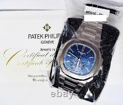Patek Philippe SEALED Nautilus 18k White Gold Diamond Watch Box/Papers NEW 5976