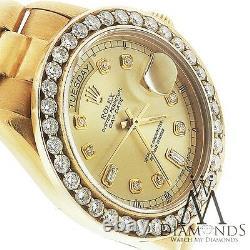 Presidential Rolex 18038 Single Quickset 18k Yellow Gold Diamond Bezel & Dial