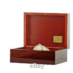 ROLEX 18K 40mm Yellow Gold Yachtmaster White Automatic 16628 Warranty Box MINTY