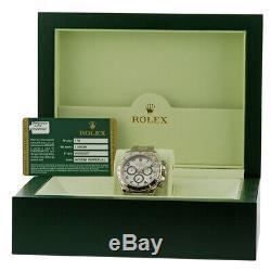 ROLEX 18K White Gold 40mm Daytona Cosmograph # 116509 Box Warranty V Serial