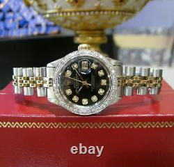 ROLEX Oyster Perpetual Lady-Datejust 26mm Watch in Gold Steel and Diamonds