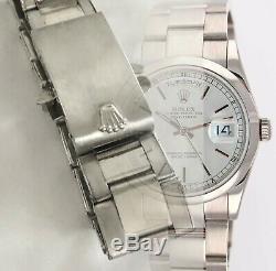 ROLEX PRESIDENT Model 18k WHITE GOLD 20mm Bracelet Riveted Links Marked 76 ends