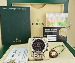 ROLEX REHAUT Mens 18kt White Gold DAYTONA Black Red Race 116509 SANT BLANC