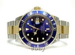 ROLEX Submariner 16613 1991 Steel and Gold Blue Dial/Bezel Boxed
