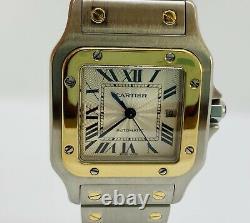 Reloj Cartier Santos Galbee 2319 Automatico Para Hombre De Acero Y Oro 18k