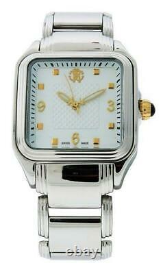 Roberto Cavalli R7253192545 Women's Venom Square Analog Stainless Steel Watch