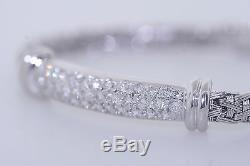 Roberto Coin 18k White Gold 1.50ctw Round Diamond Women Silk Bracelet (F, VS1)