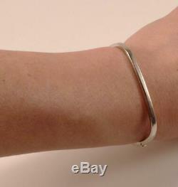 Roberto Coin 18k White Gold Rectangular Bangle Hinged Bracelet