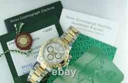 Rolex 116503 Daytona 18K Yellow Gold & Steel White Dial B&P 2005