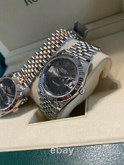 Rolex 126334 DJ41 Jubilee Wimbledon Stainless Steel 18k White Gold Never Worn