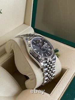 Rolex 126334 Date Just 41 Jubilee Rhodium Stainless Steel White Gold Never Worn