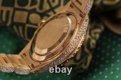 Rolex 18k Yacht-Master 40mm White Mother of Pearl Diamond Dial 16628 Watch 40ctw