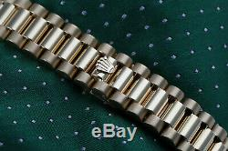 Rolex 31mm Presidential 18k Gold Ladies Diamond Watch White Mother Of Pearl Dial