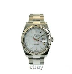 Rolex 36MM Turn-O-Graph Datejust Watch 18K/Stainless Steel Ref # 116264 Oyster