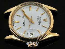 Rolex 6827 vintage 14K yellow gold midsize date automatic watch