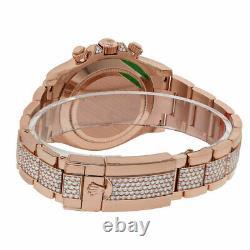 Rolex Cosmograph Daytona Factory Diamond Rainbow Rose Gold Watch 116595RBOW