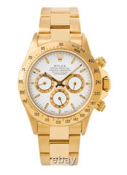 Rolex Cosmograph Daytona Yellow Gold Watch 16528 White Dial 40mm
