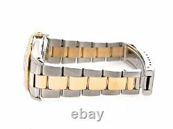 Rolex Date 15223 Mens 18K Gold & Stainless Steel Watch Oyster Band Roman Dial