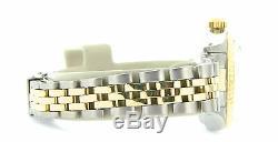 Rolex Date Lady 2Tone 14K Yellow Gold Steel Watch Jubilee Band White Roman 6917